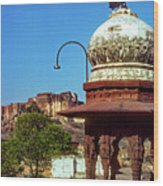 Mehrangarh Fort - Approach With Caution Wood Print
