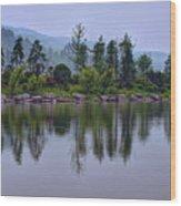Meitan County Reflection - Guizhou, China Wood Print
