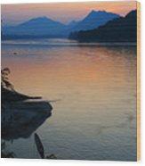 Mekong River Sunset Wood Print
