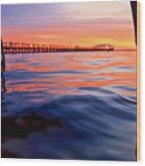 Mel Beach Red Wood Print