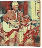 Mel Tillis Famous Country Music Entertainer  Wood Print