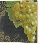Melange Green Grapes Wood Print