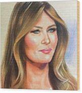 Melania Trump Wood Print