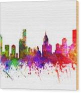 Melbourne Australia Cityscape 02 Wood Print