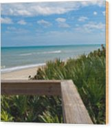 Melbourne Beach In Florida Wood Print
