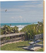 Melbourne Beach In Florida Usa Wood Print