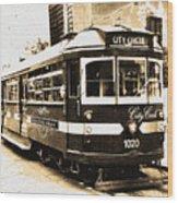 Melbourne Tram Wood Print by Darren Stein