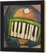 Melodica Mouth Wood Print