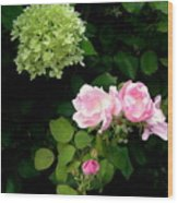 Melody Of Flowers Wood Print