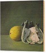 Melon Cauli Wood Print