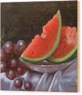 Melon Slices Wood Print