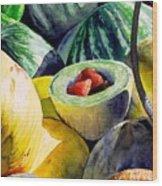 #18 Melons Plus Wood Print