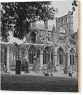 Melrose Abbey  Wood Print