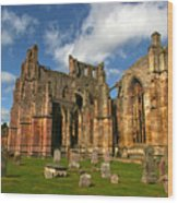Melrose Abbey Wood Print