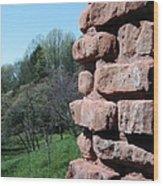 Melting Brick Wall Wood Print