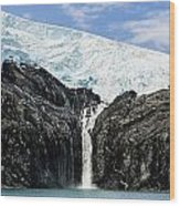 Meltwater From The Northland Glacier Wood Print by Ray Bulson