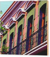 Melville Balcony By Darian Day Wood Print