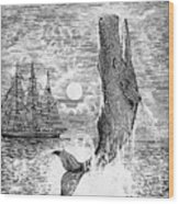 Melville: Moby Dick Wood Print by Granger