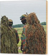 Members Of The Special Forces Group Wood Print