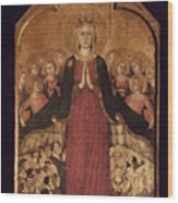 Memmi: Madonna In Heaven Wood Print