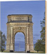Memorial Arch Valley Forge Wood Print