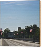 Memorial Avenue Bridge Roanoke Virginia Wood Print by Teresa Mucha