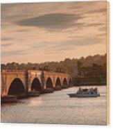 Memorial Bridge II Wood Print by Steven Ainsworth