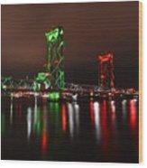 Memorial Bridge Wood Print