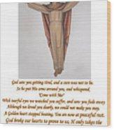 Memorial Card Wood Print