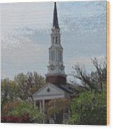 Memorial Chapel Far Wood Print