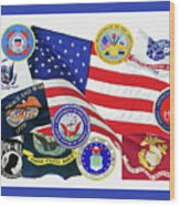 Memorial Day Collage Wood Print
