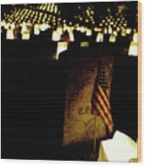 Memorial Day Luminary Wood Print