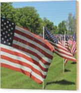 Memorial Day Tribute Wood Print