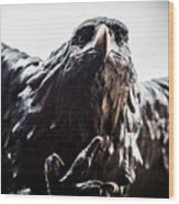 Memorial Eagle Wood Print