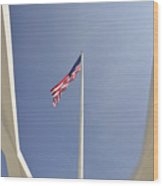 Memorial Flag Wood Print by Andy Smy