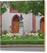Memorial Of Jp Hebel At Peterskirche In Basel Switzerland Wood Print