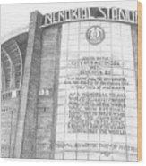Memorial Stadium Wood Print