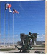 Memorial To The Fallen Soldier Wood Print
