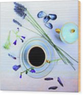 Memories And Coffee Wood Print