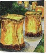 Memories Luminaria Wood Print