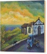 Memories Neath A Yellow Sky Wood Print