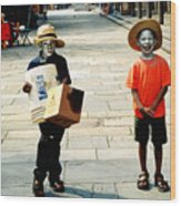 Memories Of A Better Time The Children Of New Orleans Wood Print by Christine Till