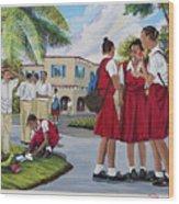 Memories Of High School Wood Print