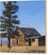 Memories Of Montana Wood Print