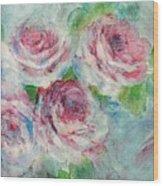 Memories Of Roses Wood Print
