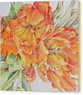 Memories Of Spring Wood Print