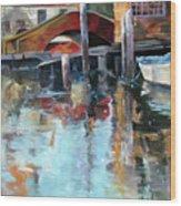 Memories Of Venice Wood Print