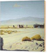 Memories Only Ballerat Calfornia Wood Print by Evelyne Boynton Grierson