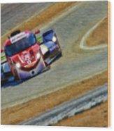 Memorojas And Katherine Legge Tudor United Sportcar Championship Wood Print