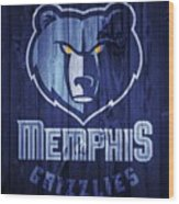 Memphis Grizzlies Barn Door Wood Print